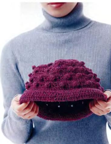 вязание крючком зимняя шапка схемы.