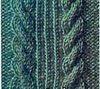 Вязание косы спицами