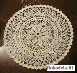 Схемы вышивок скатерти и салфетки