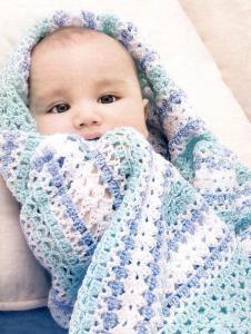 Плед крючком для новорожденного схемы и описанием