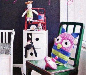 Вязание крючком игрушек - Сова для детского настроения и яркого интрьера