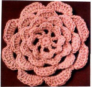 Вязание крючком цветов - Ирландский акцент