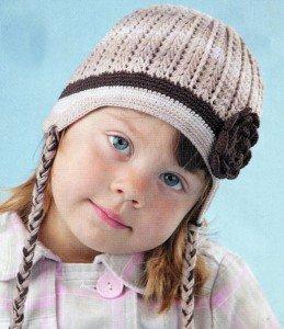 Вязание шапочки крючком - Детский кофе с молоком