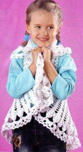 Детская шаль вязаная крючком
