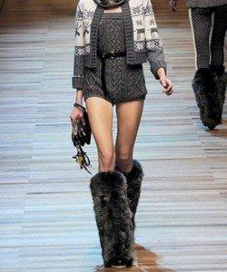 Мода на вязаные вещи в зимнем сезоне