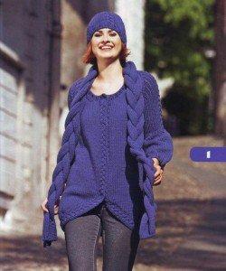 Мода на вязаные платья из шерсти